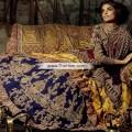 BW6771 Dark Tyrian Purple Rosewood Dark Persian Indigo Crinkle Chiffon Lehenga