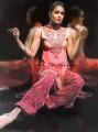 PW8621 Cherry Charmeuse Silk Shalwar Kameez