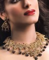JW172 Kundan And Garnet Gemstones Necklace Party Jewellery