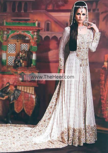 Bw7875 off white crinkle chiffon long train maxi for Asian wedding dresses uk