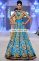 AK6134 Dodger Blue Golden Raw silk Crepe Silk Anarkali