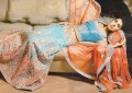 BW8405 Turquoise & Orange Mermaid Lehenga