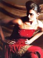 CW7690 Red Crinkle Chiffon Casual Wear