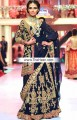 BW6742 Dark Midnight Blue Crinkle Chiffon Lehenga
