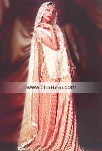 bw8738 cream amp apricot sharara pakistani indian bridal