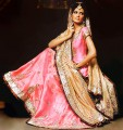 BW8025 Shocking Pink & Burley Wood Lehenga