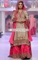 BW6728 Khaki French Rose Crinkle Chiffon Banarasi Jamawar Banarasi Crinkle Chiffon Sharara