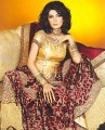 BW386 Golden And Deep Maroon Gharara