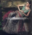 BW6372 Jungle Green Lavender Blue Banarasi Jamawar Sharara