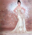 BW109 Off-white Jamawar Back Train Lehenga