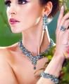 EJ015 Capri Blue And Aquamarine Gemstones Evening Jewellery