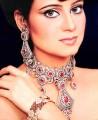 JW022 Zircons Ruby Gemstones  Party Jewellery