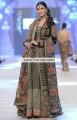 BW6085 Black Dark Taupe Umber Velet Banarasi Crinkle Chiffon Banarasi Jamawar Gown Lehenga