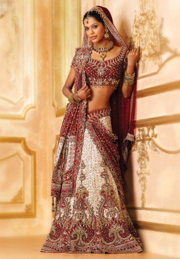 The dulhan 39 s thread page 6 1748385 bade acche for White indian wedding dress