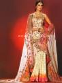 BW8018 Ivory & Hot Pink Gharara