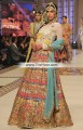 BW6906 Ghost White Matellic Golden Baby blue Crinkle Chiffon Raw Silk Banarasi Chiffon Lehenga
