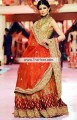 BW6743 Vanilla Orange Red Falu Red Raw Silk Crinkle Chiffon Lehenga