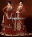 Farzana Chowdhury Order BW6397 Maroon Banarasi Crinkle Chiffon Lehnga