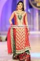 BW7511 Scarlet Dark Green Maroon Banarasi Jamawar Sharara
