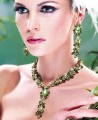 EJ016 Fern Green & Olivine Gemstones Evening Jewellery