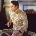 SW543 Golden Rani Pink Sherwani