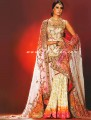 B057 Ivory & Hot Pink Gharara
