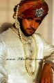 SW511 Off White Jamawar Sherwani
