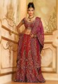 BW85 Blood-Red Lehenga