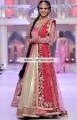 BW6720 Carnation Pink Gold Metallic Cardinal Raw Silk Crinkle Chiffon Tissue Silk Banarasi Crinkle Chiffon Lehenga