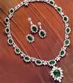 JW696 White &  Green Diamond Like Jewellery